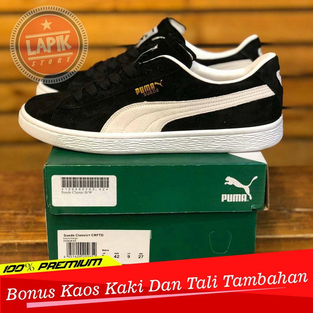 Sepatu Black Classic Suede White Puma LAj5R4