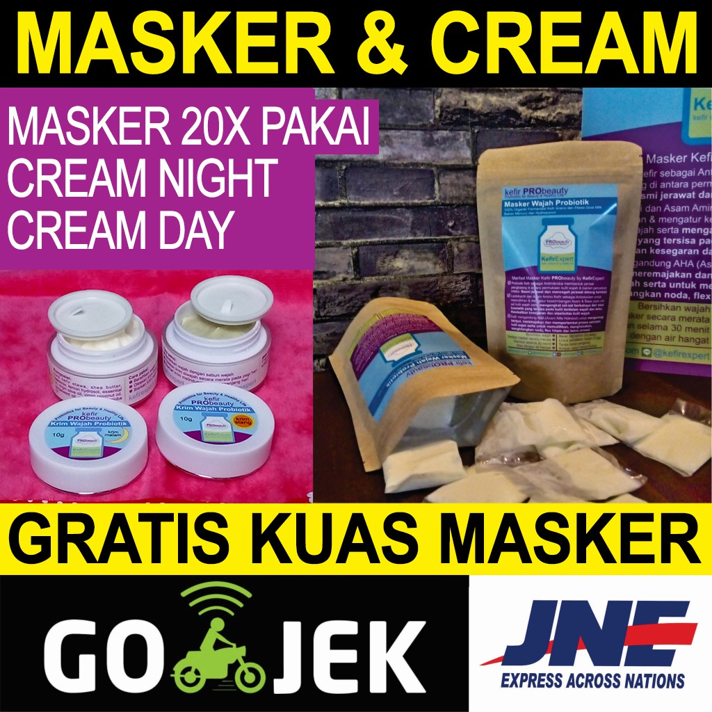 Masker Wajah Kefir Probeauty 100 Etawa Organik 14x Pakai Shopee Kuas Indonesia