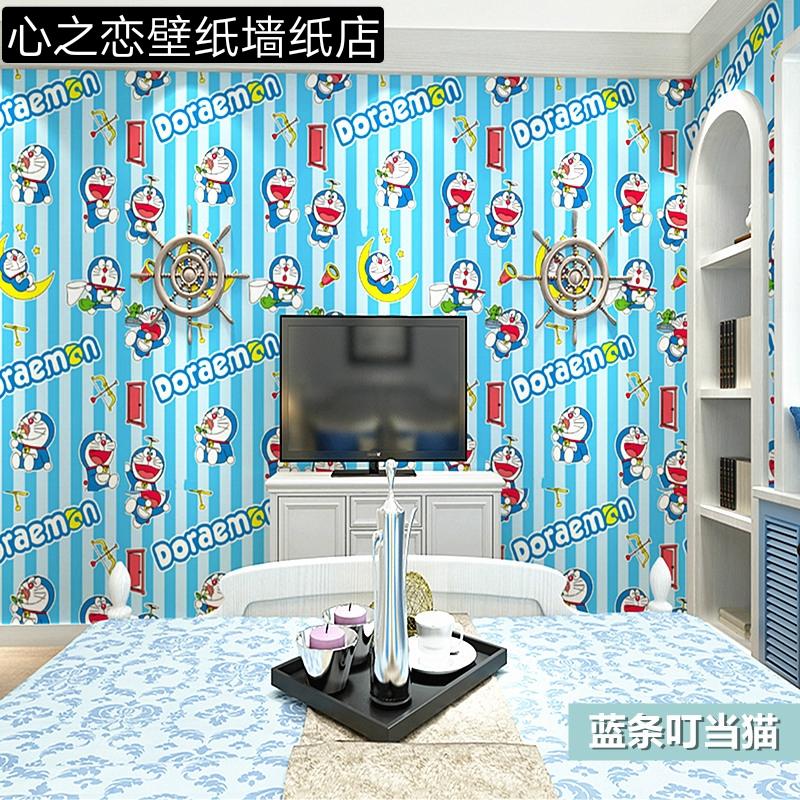 Wallpaper Dengan Perekat Kuat Motif Doraemon Untuk Dekorasi Kamar Tidur Anak Shopee Indonesia