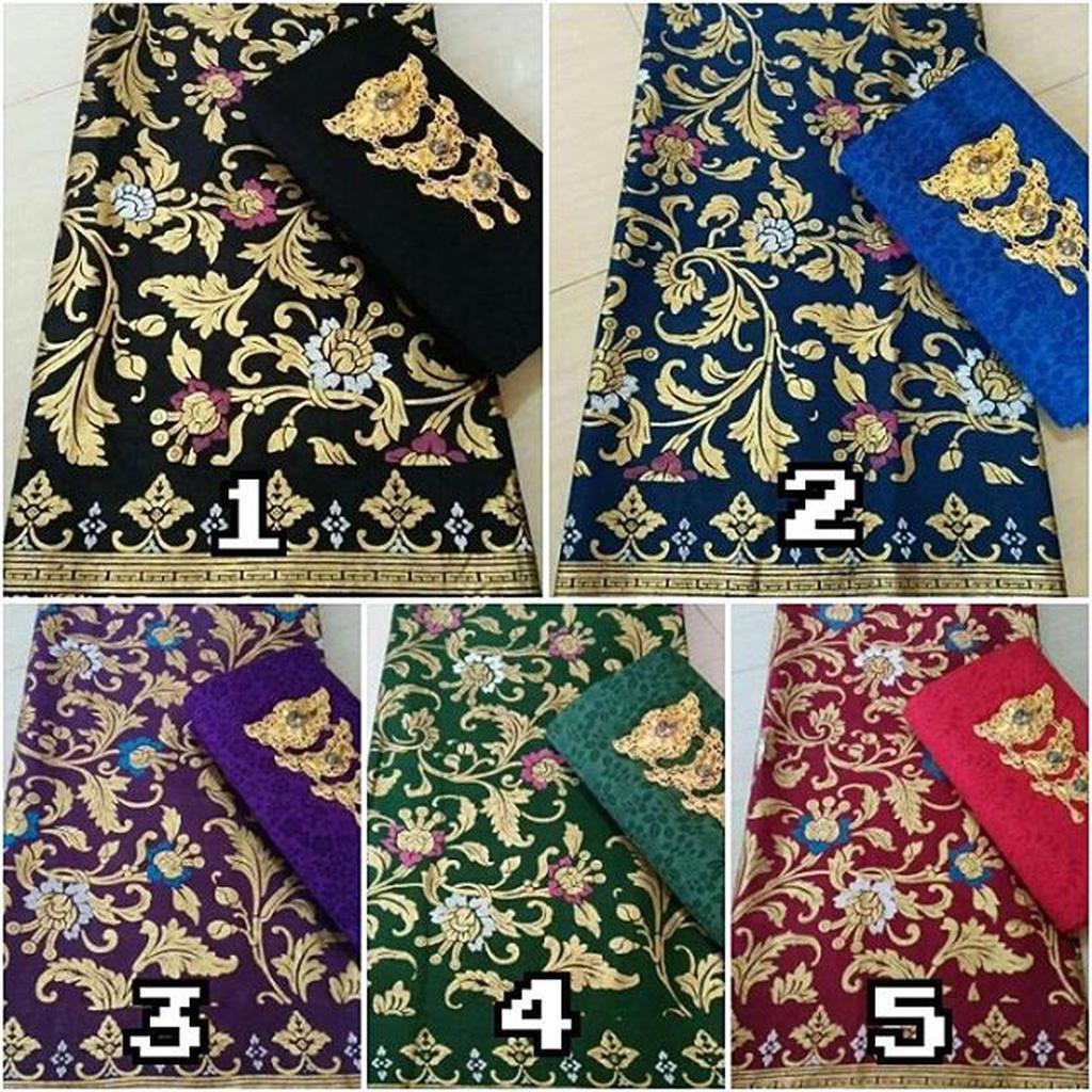 Kain Batik Motif Prada Songket Batak Dan Embos Ori Printing Set 9 Pekalongan Shopee Indonesia