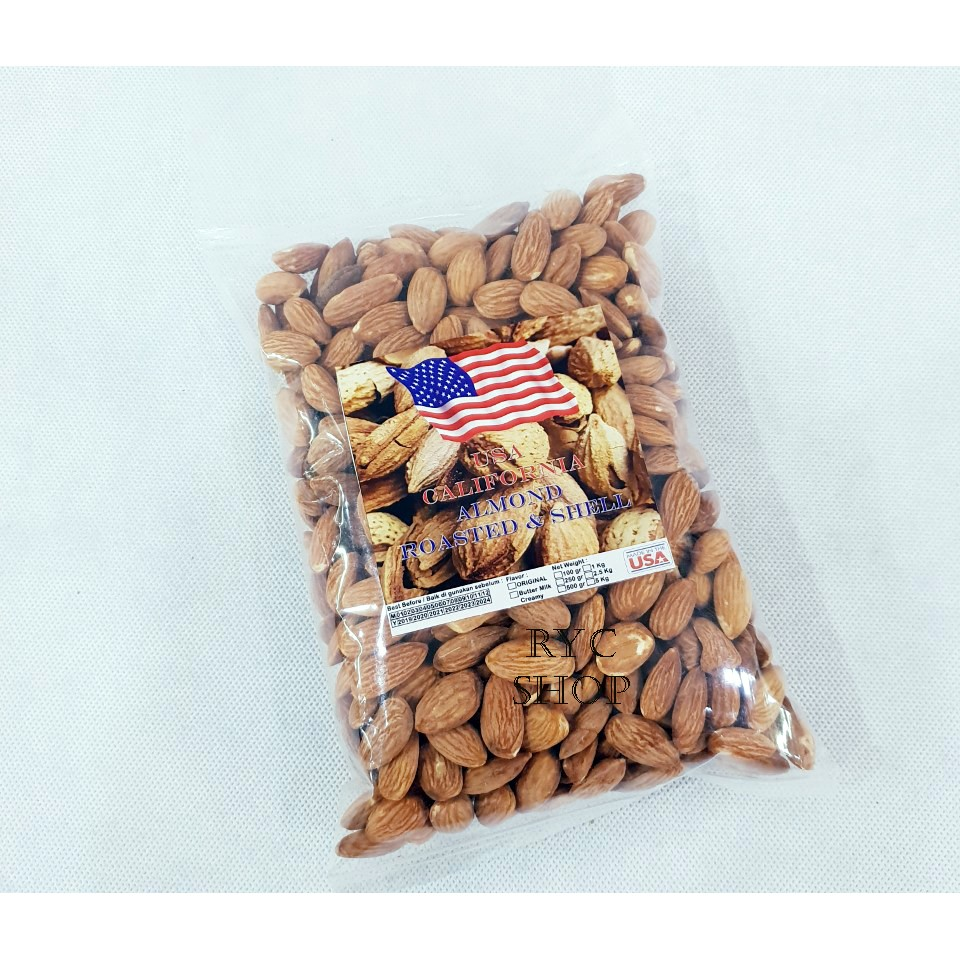 Raw Almond Premium Kacang Mentah 500gr Shopee Indonesia Blue Diamond Natural Whole 1 Kg