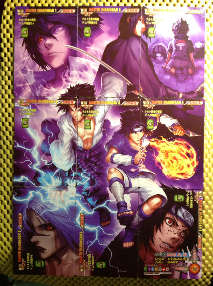 Jual kartu naruto set 9 puzzle card sasuke ultimate ninja sharingan