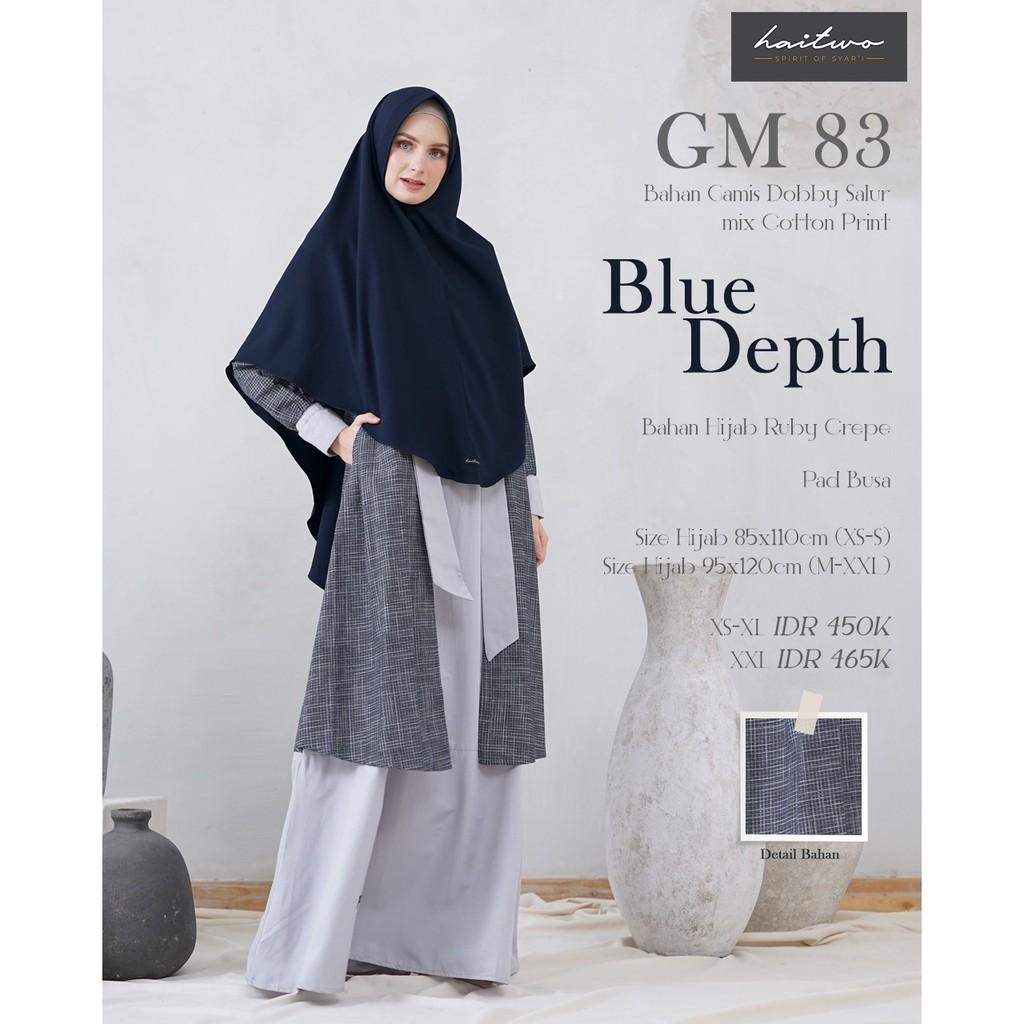 Baju Gamis Branded Syari Wanita Dewasa Hai Hai Haitwo GM 10 Original Murah