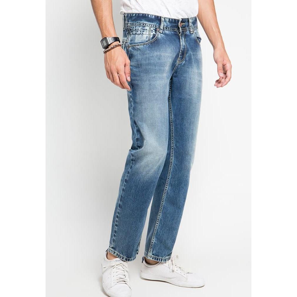 Celana Panjang Jeans Soft Strit Pensil Hr 2359 Termurah Lois Original Chino Pria Cfsk001b Cokelat Tua 28 Shopee Indonesia