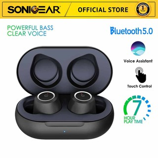 SonicGear TWS 2 Wireless Bluetooth Earbuds with Portable Charging Case - Garansi Resmi 1 Tahun