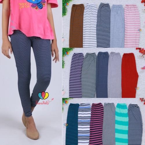Legging Salur Uk Tanggung 8 15 Tahun Celana Salur Panjang Anak Perempuan Leging Pants Murah Adem Shopee Indonesia