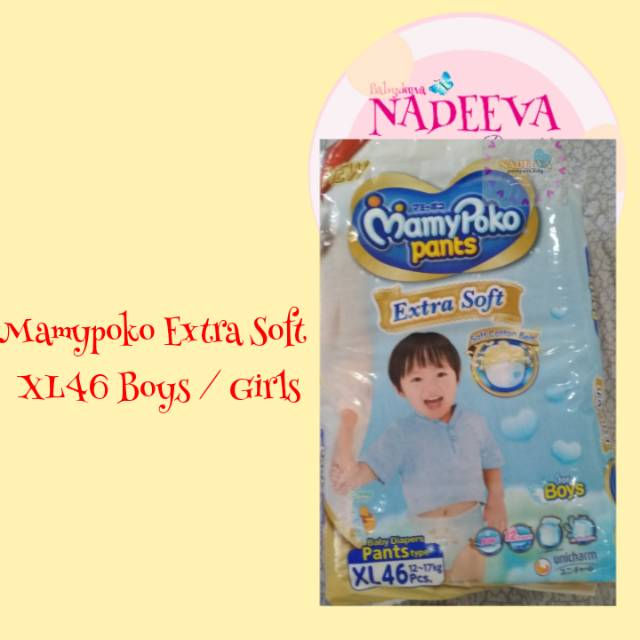 MamyPoko Pants Extra Soft - XL 46 - Girls - Popok Celana   Shopee Indonesia