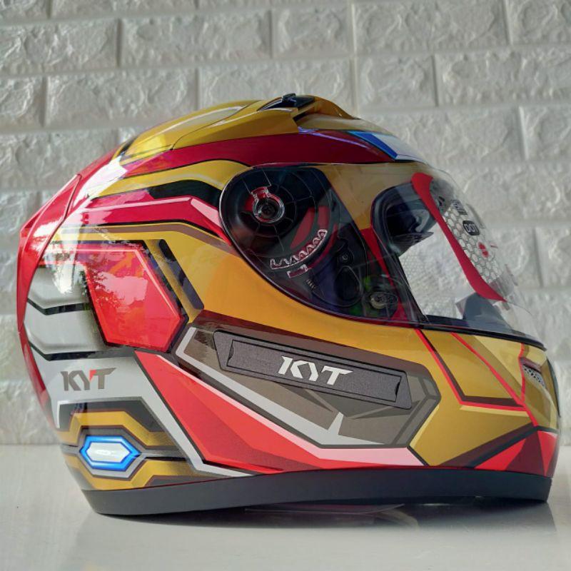 Helm Fullface KYT K2 Rider Iron Man Ongkir Termurah 2 kg