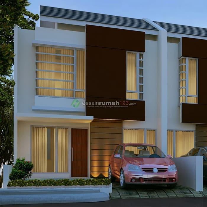 Desain Rumah Minimalis 2 Lantai Di Lahan 7 X 15 M2 Dr 708 Shopee Indonesia
