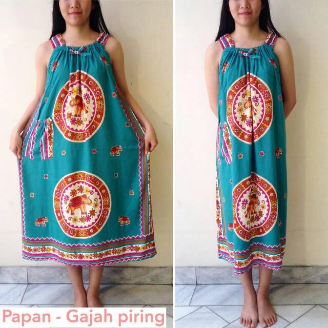 Batik Hengky - Papan Gajah piring - Baju Tidur Wanita Motif Gajah
