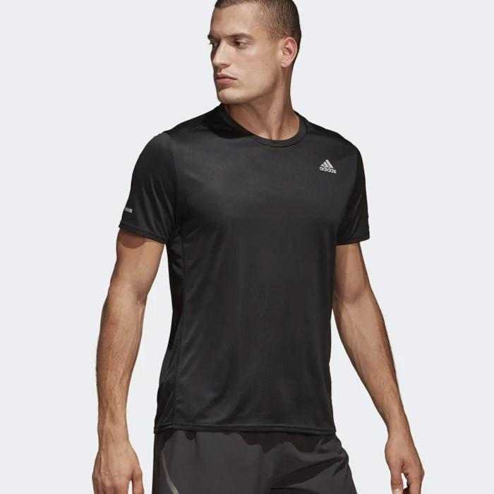 Exagerar entregar Galaxia  Kaos Adidas MEN RUNNING RUN T-SHIRT Tee Black Olahraga CG1953 ORIGINAL    Shopee Indonesia