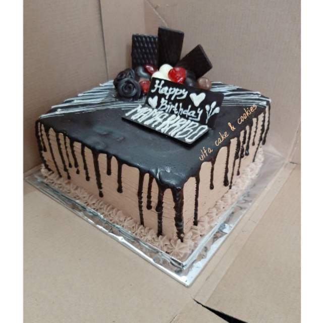 Birthday Cake Kue Cokelat Ulang Tahun Coklat Kue Ultah Cokelat Blackforest