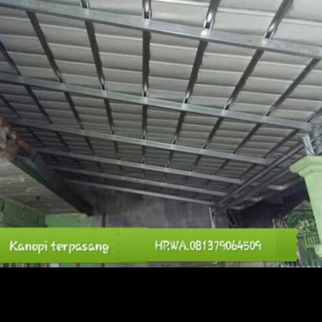 Plafon Pvc Dan Kanopi Minimalis Shopee Indonesia