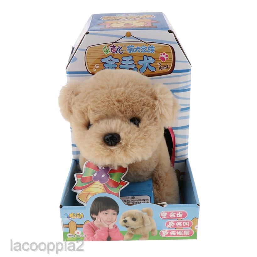 Lacooppia2 Walking Barking Dog Plush Stuffed Puppy Toy Electronic Dog Battery Powered Shopee Indonesia