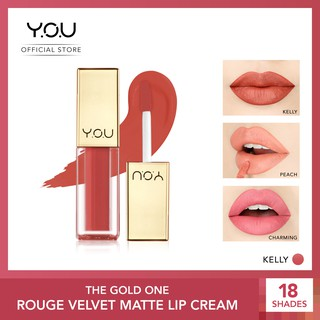 YOU The Gold One Rouge Velvet Matte Lip Cream 4.5 g [ Quick Dry and Non-transfer / Long-lasting ]