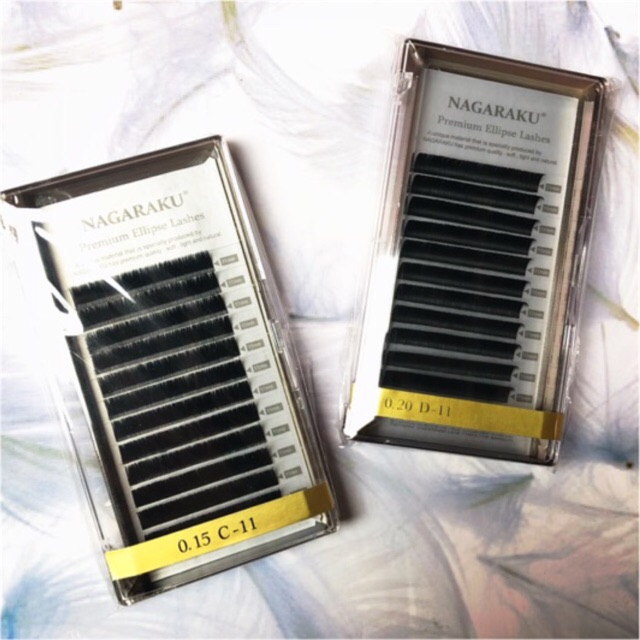 8e944228ebd Ellipse Nagaraku Eyelash Extension / Nagaraku Premium Ellipse Flat Eyelash  Extension Super Soft !! | Shopee Indonesia