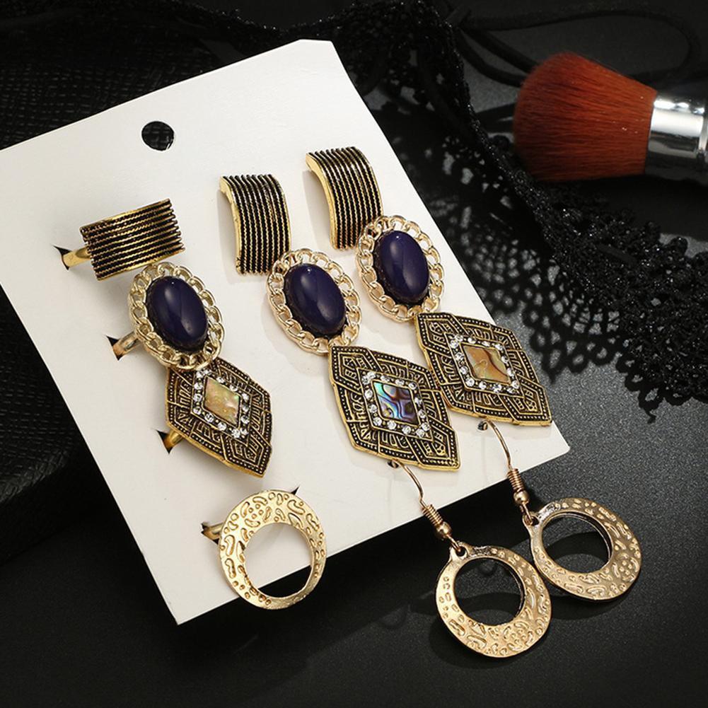 Hbid Set 10 Pasang Anting Gantung Multi Model Warna Gold Untuk Segitiga Wanita Shopee Indonesia