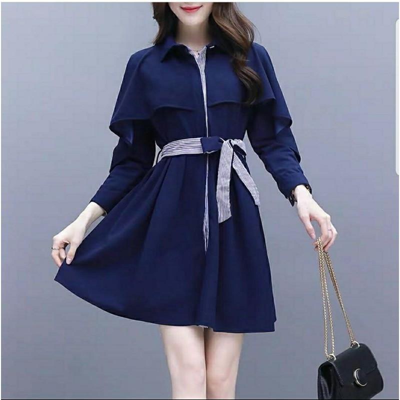 MFDRS DRESS WILONA / dress casual lengan panjang busui wanita gereja natal imlek sincia terbaru