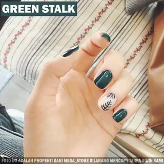KUKU PALSU GREEN STALK + LEM GEL FAKE NAIL NAILS KUKU WEDDING KUKU MOTIF CANTIK PESTA thumbnail