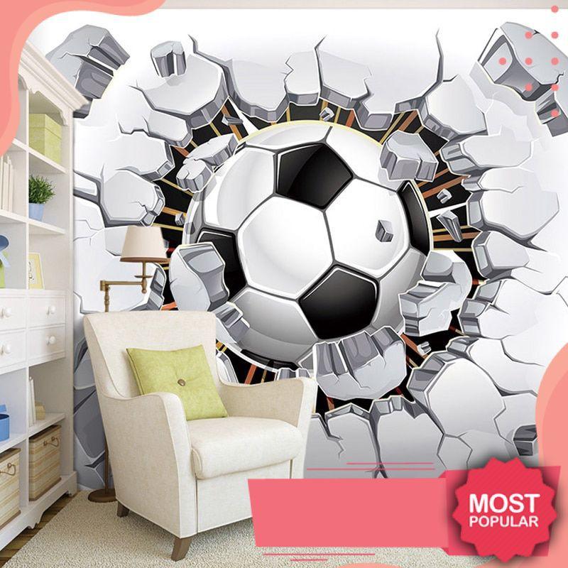 Terlaris 3d Sepak Bola Wallpaper Olahraga Latar Belakang Lukisan Dinding Ruang Tamu Sofa Kamar Shopee Indonesia