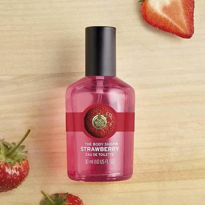 Wangi The Body Shop Original Strawberry Edt Eau De Toilette 30Ml New | Shopee Indonesia