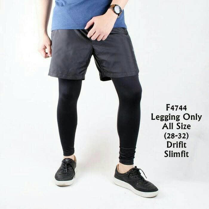 Celana Legging Leging Pria Olahraga Diving Gym Fitness Running Kiper Shopee Indonesia