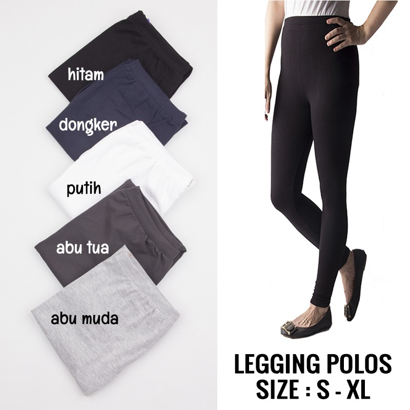 Legging Polos Legging Yoga Celana Senam Legging Senam Shopee Indonesia