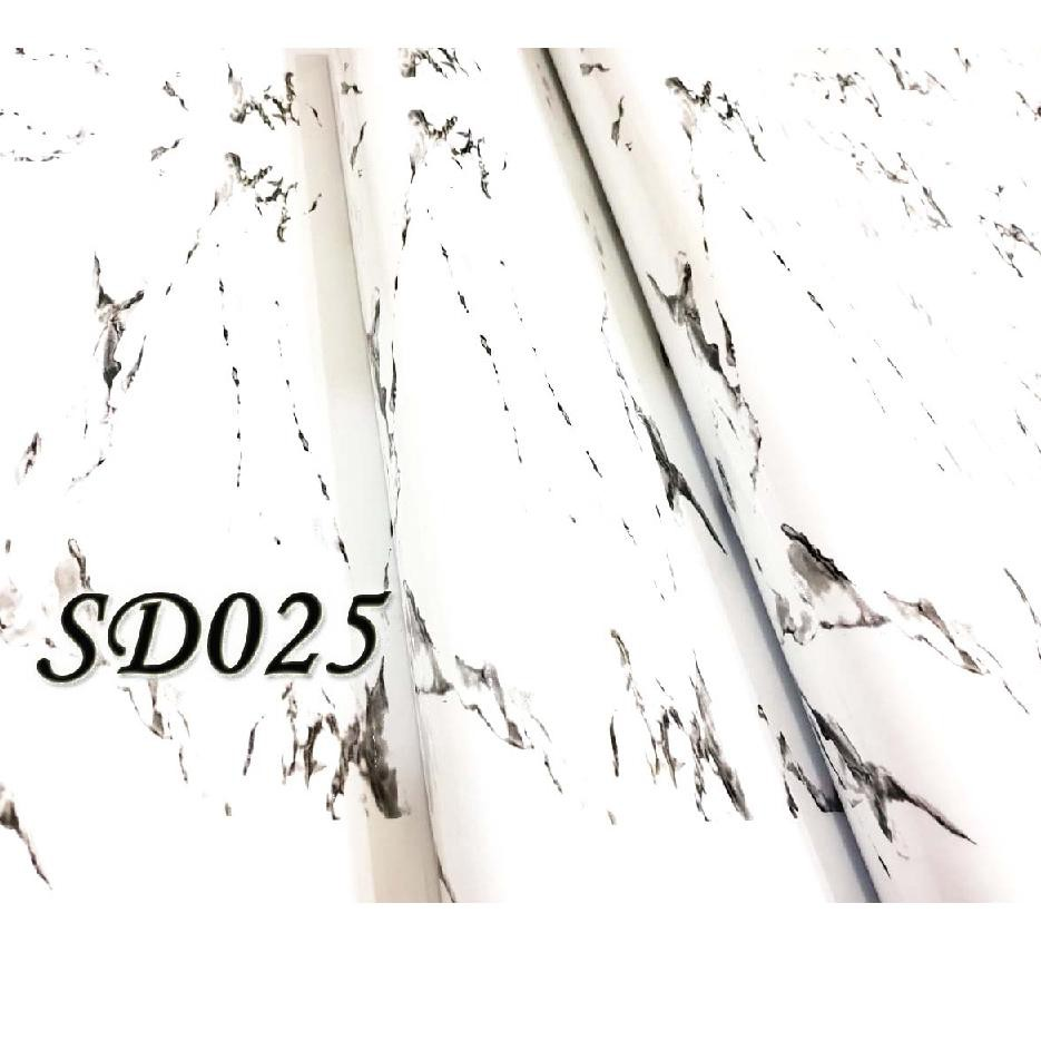 Keren ❁ Abis METH SD025 MARMER PUTIH STICKER DAPUR KITCHEN STICKER 60CMX5M WALLPAPER &&