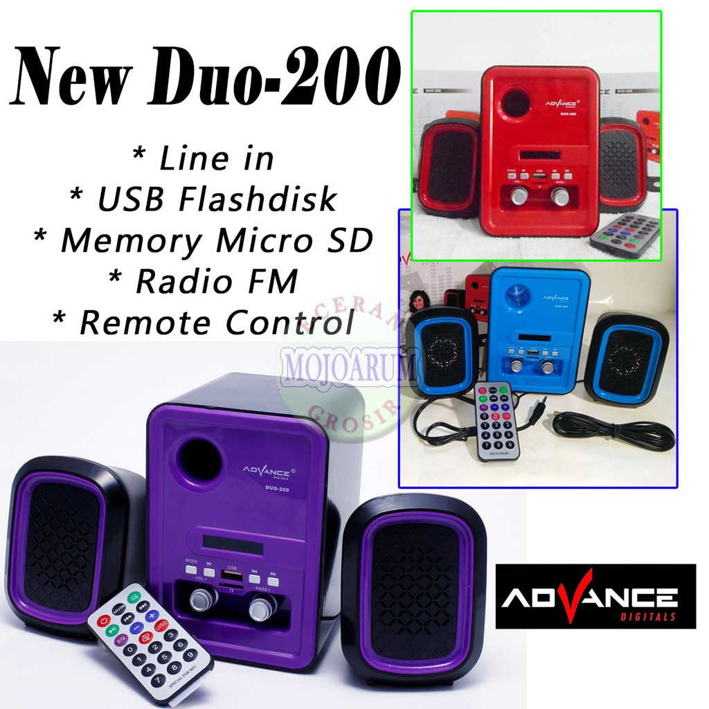 Up To 46 Discount From Mojoarum Grosir Tp600 Original Speaker Advance Tp 600 Duo 200 New Laptop Usb Memory Radio F