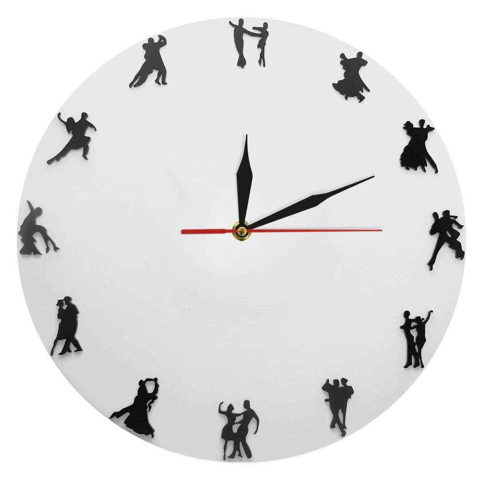 Ballroom Dancers Minimalist Design Wall Clock Latin Couple Dancers Wall Decor Dancing Shopee Indonesia