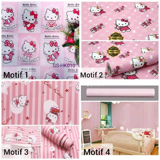 Wallpaper Dinding Hello Kitty Chic Shopee Indonesia