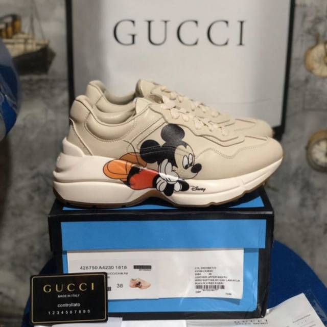 Sepatu Gucci Rython Disney Sneakers Mickey Mouse Unauthorized