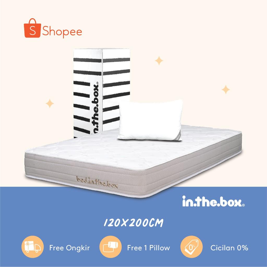 Kasur Spring Bed Inthebox Ukuran 120x200 Full Size Shopee Indonesia Ukuran kasur queen size