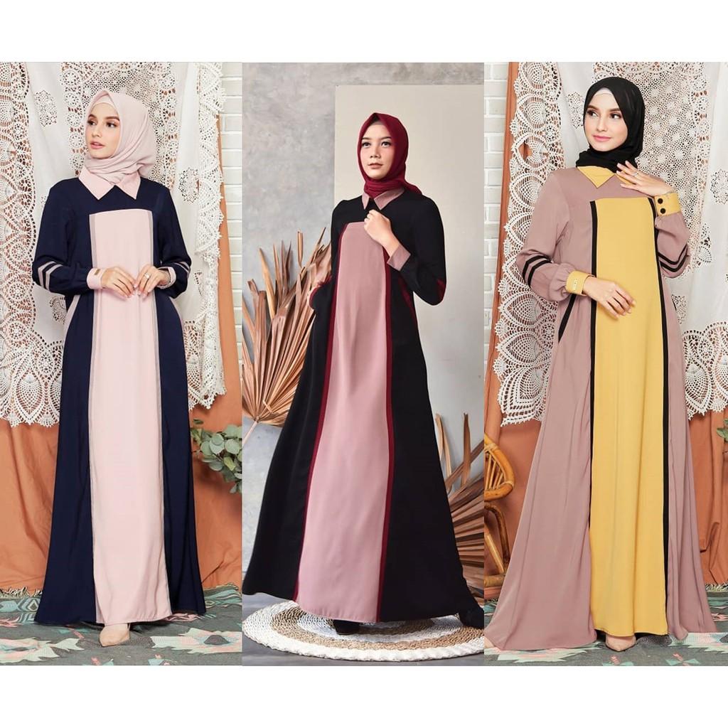 Raisya Dress by Zalifa Exclusive Collection - Baju Muslim Wanita - Gamis