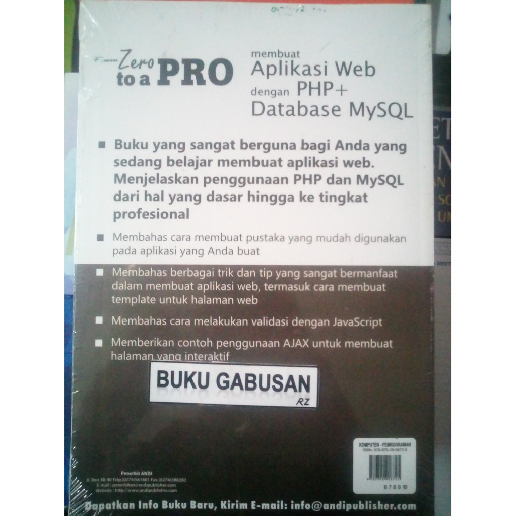 Buku Membuat Aplikasi Web Dengan Php Database Mysql Cd Rz Shopee Indonesia