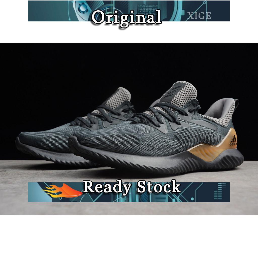 original Adidas AlphaBounce HPC AMS 3M dark grey men sport boost shoe size  40-45  93dbd88bc9