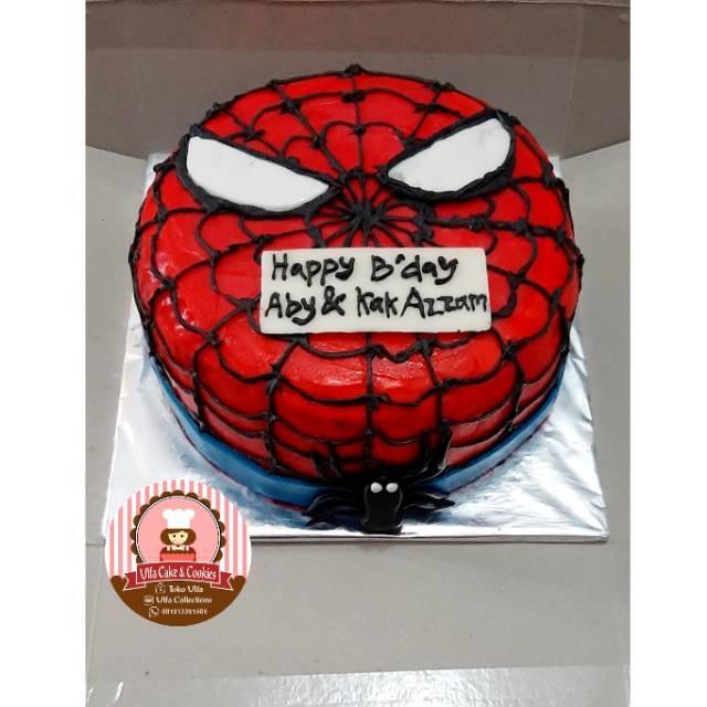 Birthday Cake Spiderman Kue Ulang Tahun Anak Karakter Shopee Indonesia