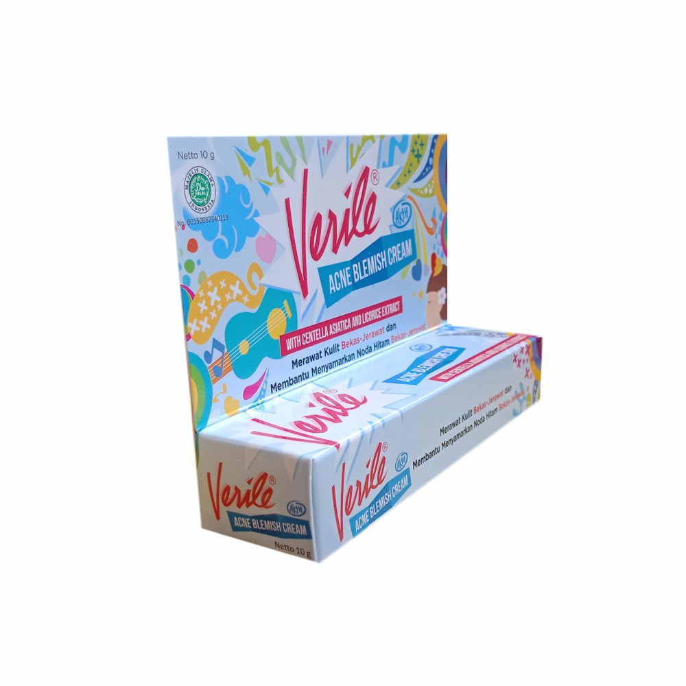 Verile Acne Blemish Cream 10 Gram Krim Penghilang Bekas Jerawat Shopee Indonesia