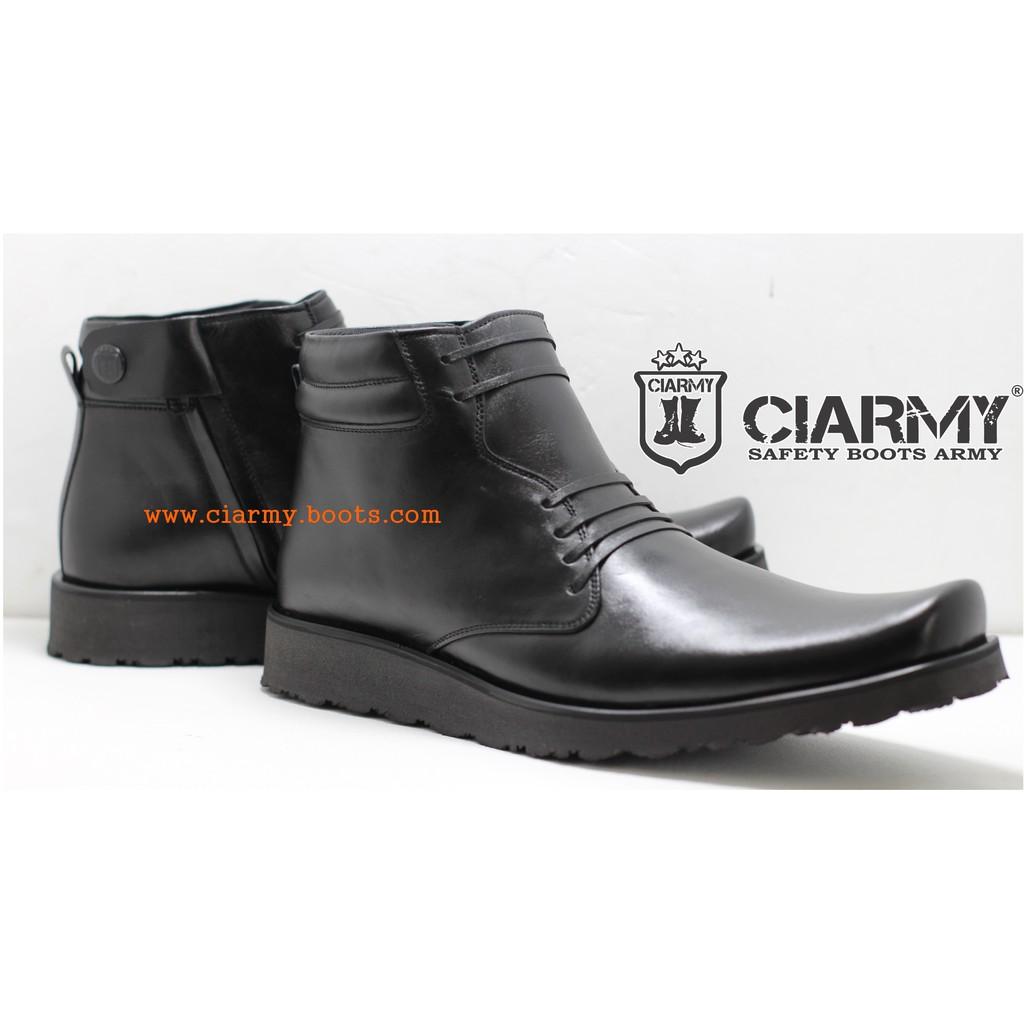 Sepatu PDH Asli Kulit Dop Sol Tinggi-Tebal Type C-02TD  1227a492ac