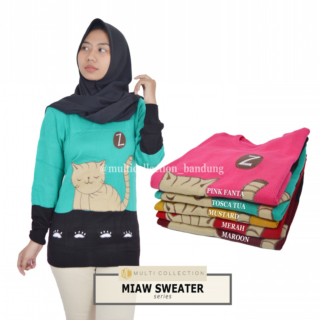 Bubble Cardy Baju Rajut Korea Sweater Wanita Popcorn Roundhand Secker Sj0015 Saku Hijab Atasan Shopee Indonesia