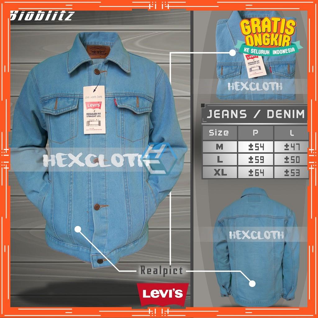 Up To 70 Discount From Brand Jeans Cewe Jaket Hijau Army Levis Unisex Denim Premium Pria Wanita Cowo Oversize Keren Bio