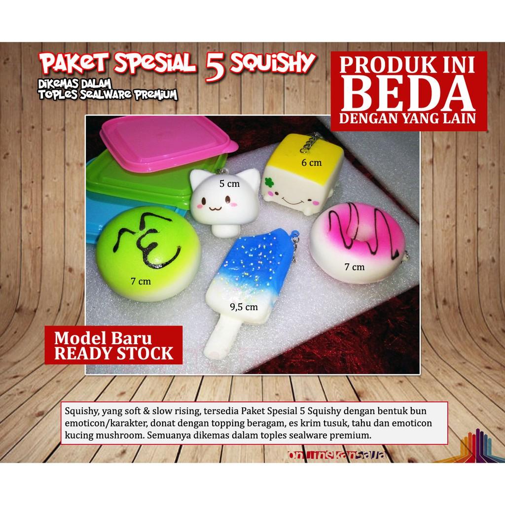 Squishy Paket Spesial 5 Medium Dalam Sealware Premium Kucing Shopee Indonesia