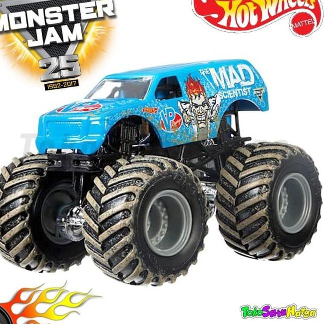 Paling Laris Hotwheels Monster Jam Team Flag Mad Scientist Hot Wheels Ori Mattel Shopee Indonesia