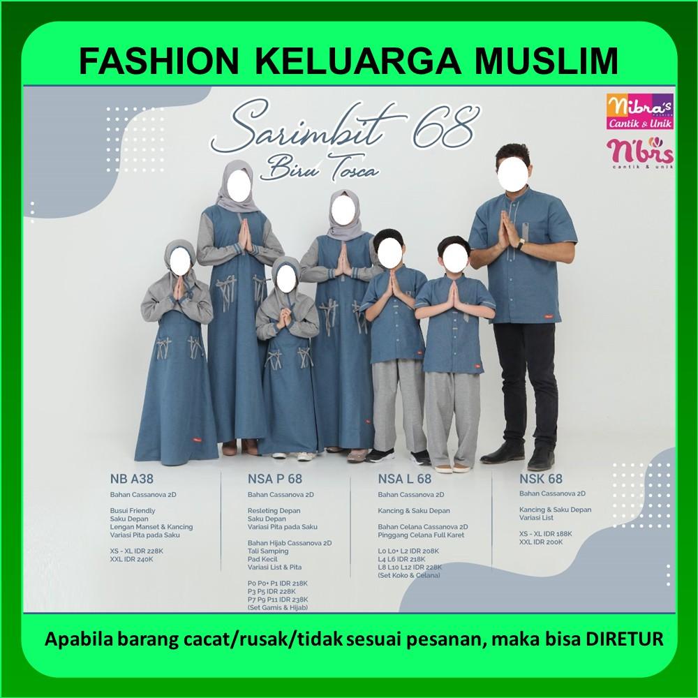 Sarimbit Nibras 68 Baju Keluarga Muslim Couple Lebaran Casanova Biru Tosca Terbaru 2020 Promo Diskon Shopee Indonesia