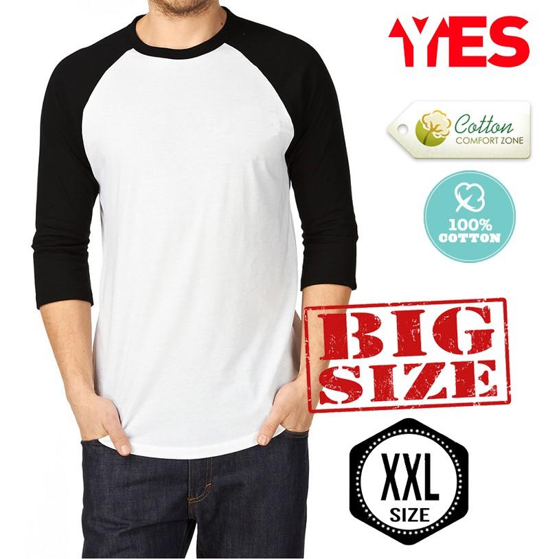 KaosYES Kaos Polos T Shirt *BIG SIZE XXXL* O-NECK LENGAN PENDEK | Shopee Indonesia