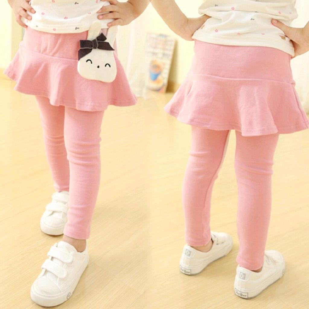 3 8 Celana Panjang Legging Rok Mini Gaya Korea Untuk Anak Perempuan 2020 Shopee Indonesia