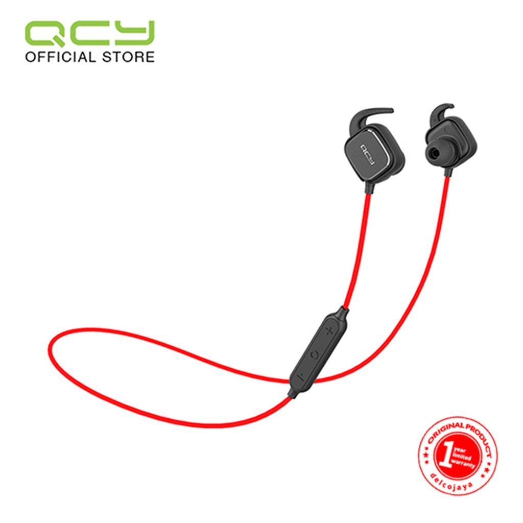QCY Sport Bluetooth Earphone QY12 (Black Red)