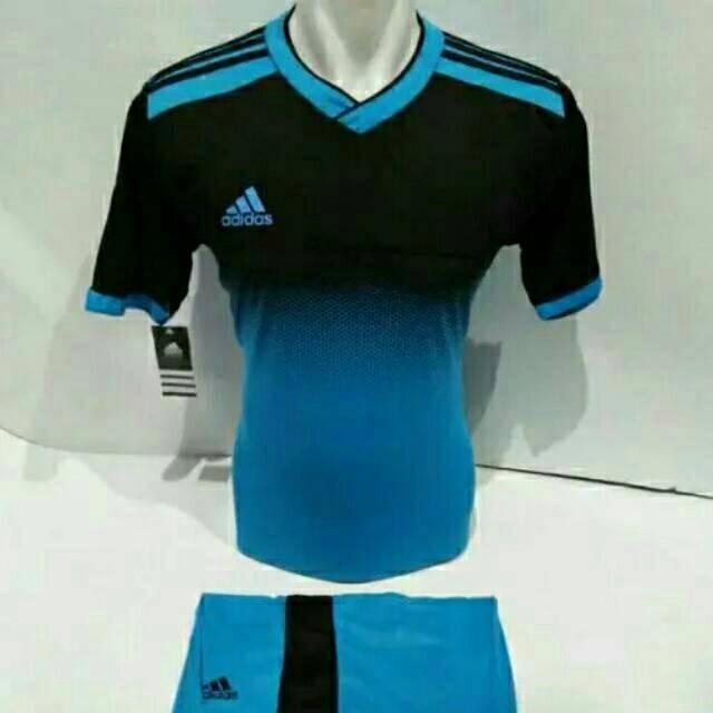 Baju Olahraga Kaos Tim Bola Setelan Jersey Futsal / Voli adidas 04