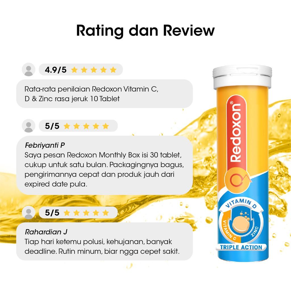 Redoxon Double Action Vitamina C+Zinc Bayer, 10 comprimate efervescente