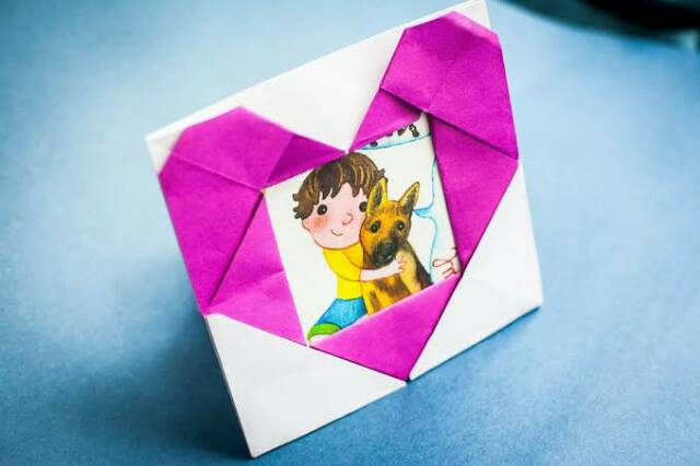 Diy Origami Kertas Bingkai Foto Love Hobi Koleksi Kerajian Diy Pesta Dekorasi Hiasan Seni Shopee Indonesia